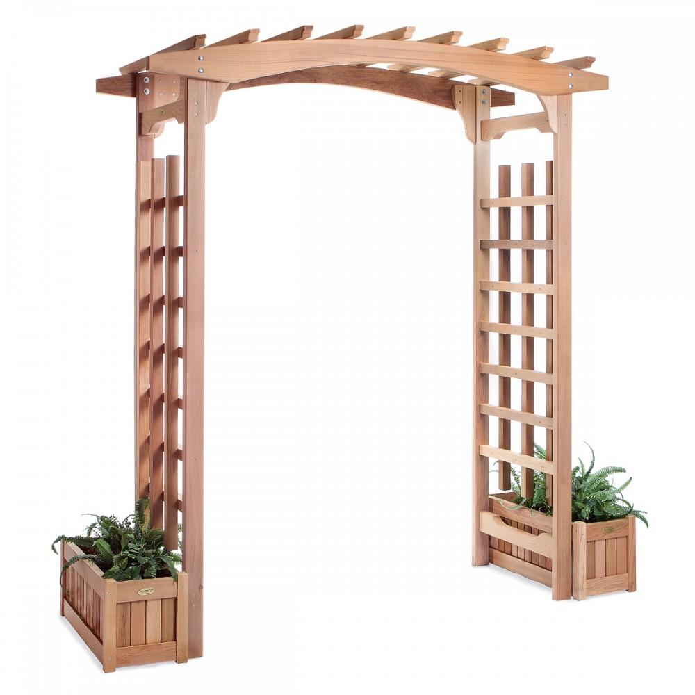 Pagoda Arbor & Planter Box Set - All Things Cedar PA96-Set