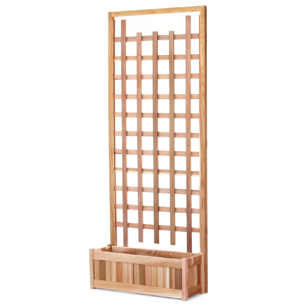 30-in Planter Box & Trellis Privacy Screen - All Things Cedar PL30-T