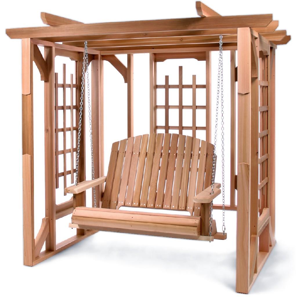 Cedar Pergola & Swing Set - All Things Cedar PO72-S