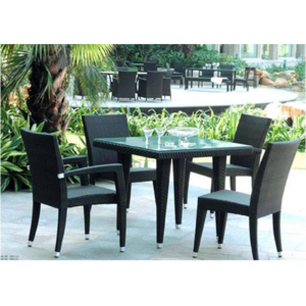 All Rattan Patio Table Set Product Photo
