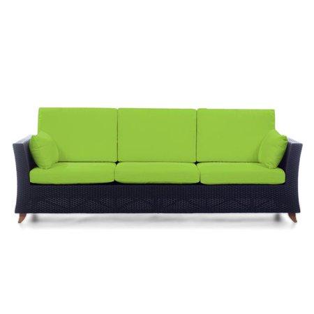 All Things Cedar Rattan Deep Seating Sofa Cushions Green