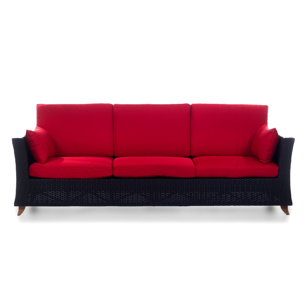 Things Cedar Deep Seating Sofa Rattan Red