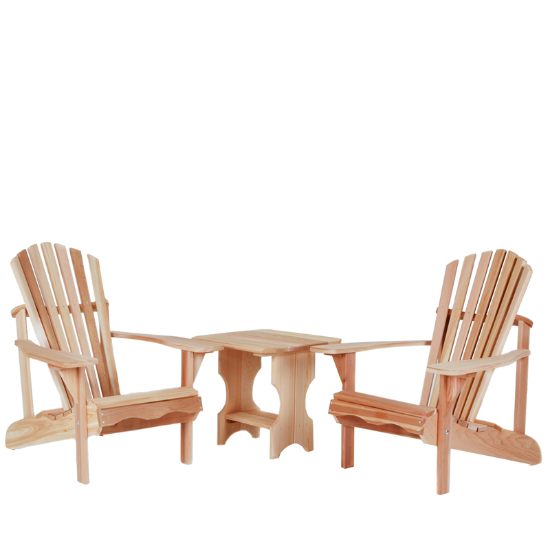 3-Piece Adirondack Side Table Set - All Things Cedar ST24-Set