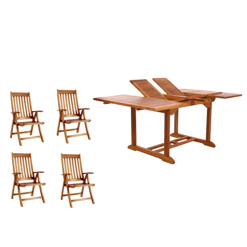 5-Piece Butterfly Folding Arm Set - All Things Cedar TD72-44