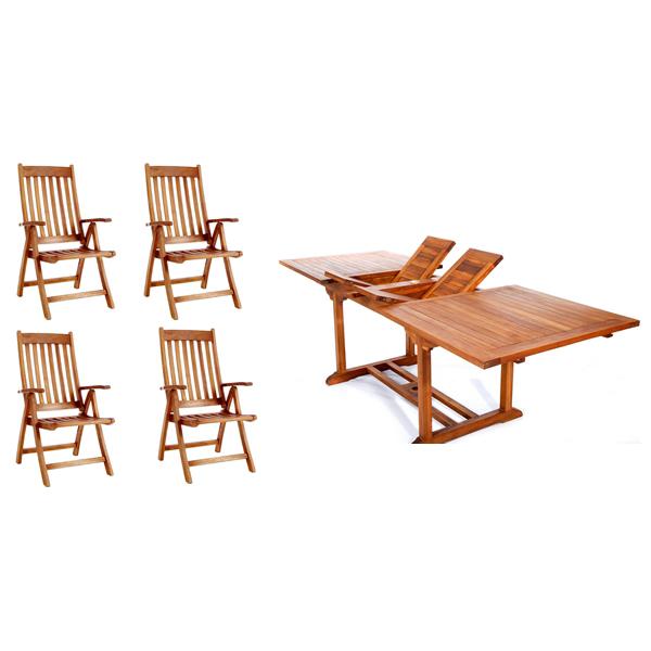 5-Piece Rectangle Folding Arm Set - All Things Cedar TE90-44