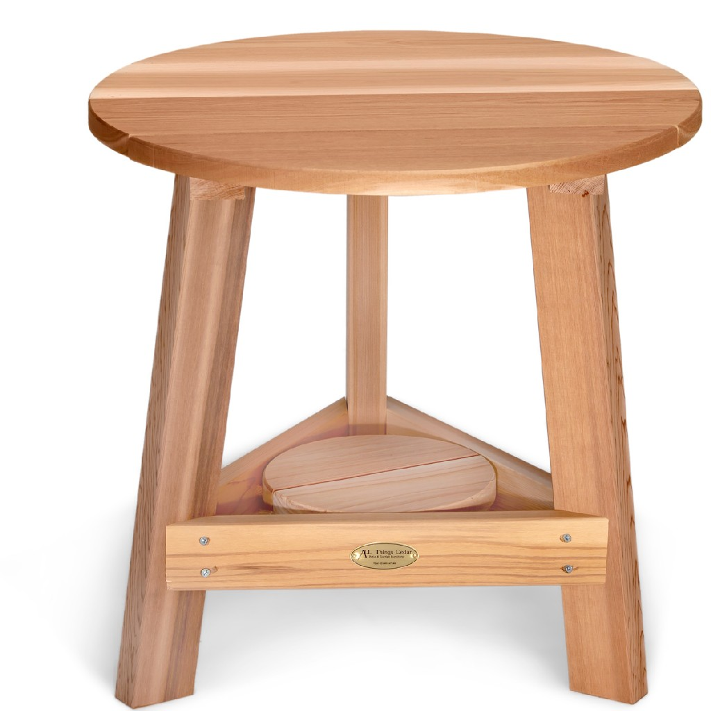 2-Piece Adirondack Tripod Table Set - All Things Cedar TP22-Set
