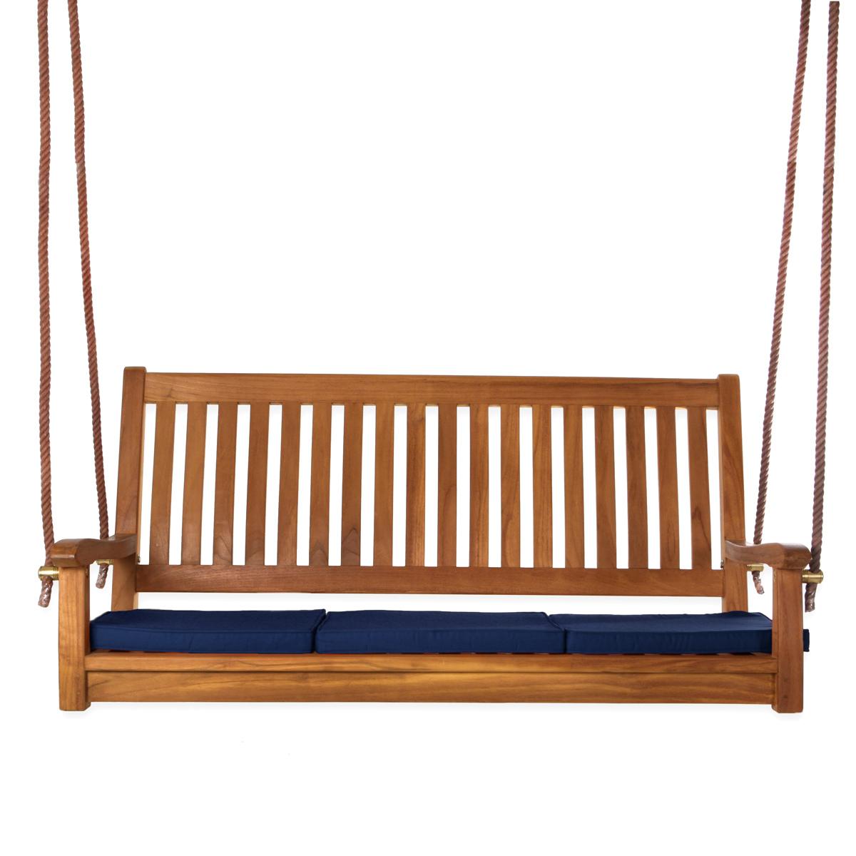 Teak Swing & Cushions, Red - All Things Cedar TS50-R
