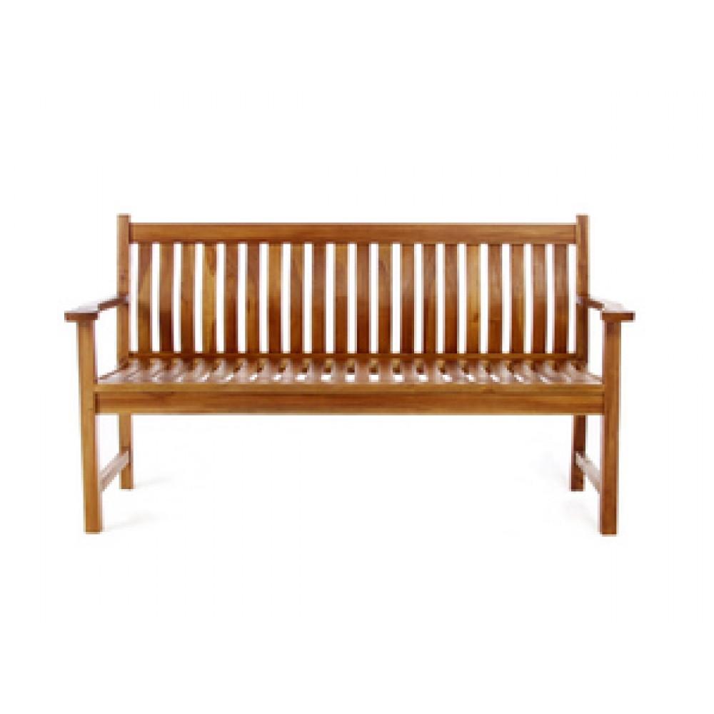 Teak Wave Bench - All Things Cedar TW80
