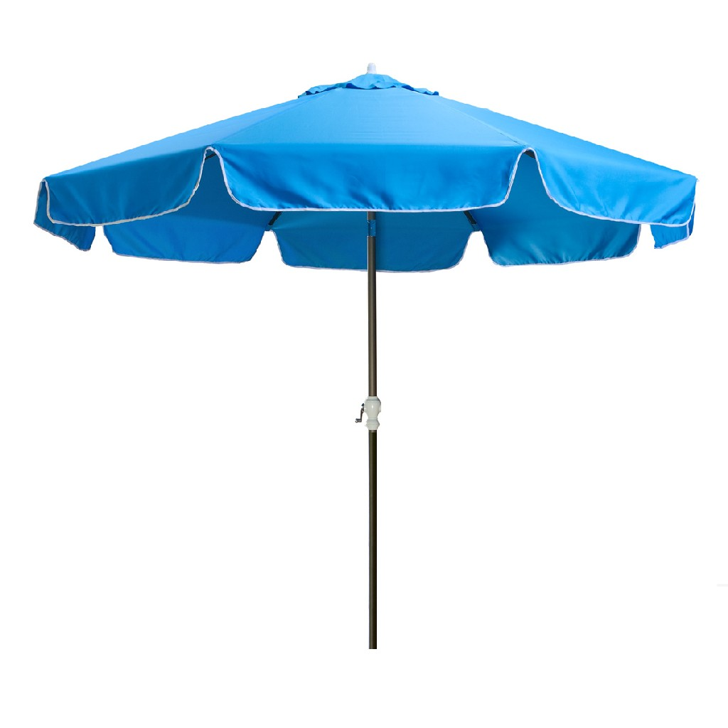 10-ft Patio Umbrella & Canopy, Blue - All Things Cedar UB33-B