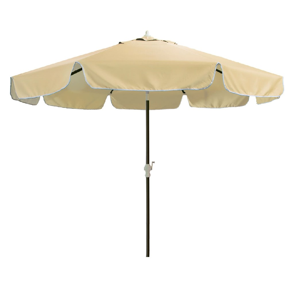 10-ft Patio Umbrella & Canopy, Tan - All Things Cedar UB33-T