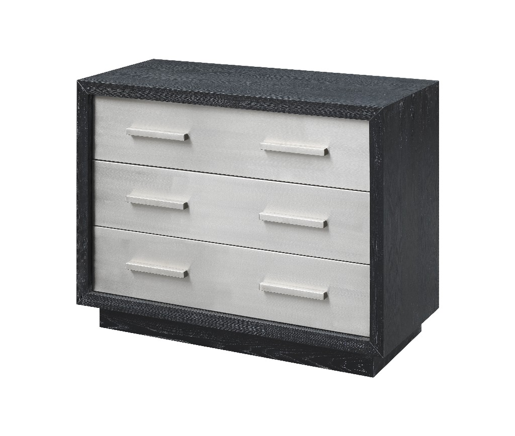 Coast To Coast Three Drawer Chest Charcoal Stainless Steel
