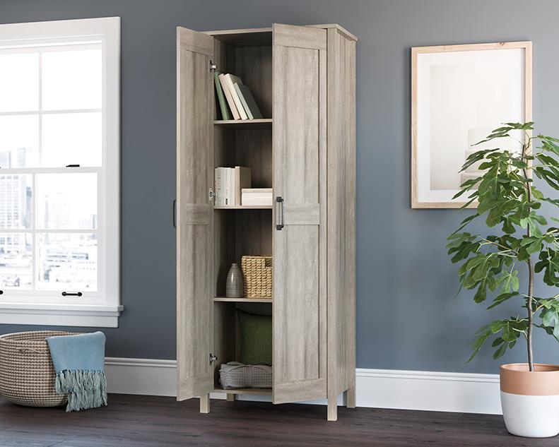 2-Door Storage Cabinet Sm in Spring Maple - Sauder 427257