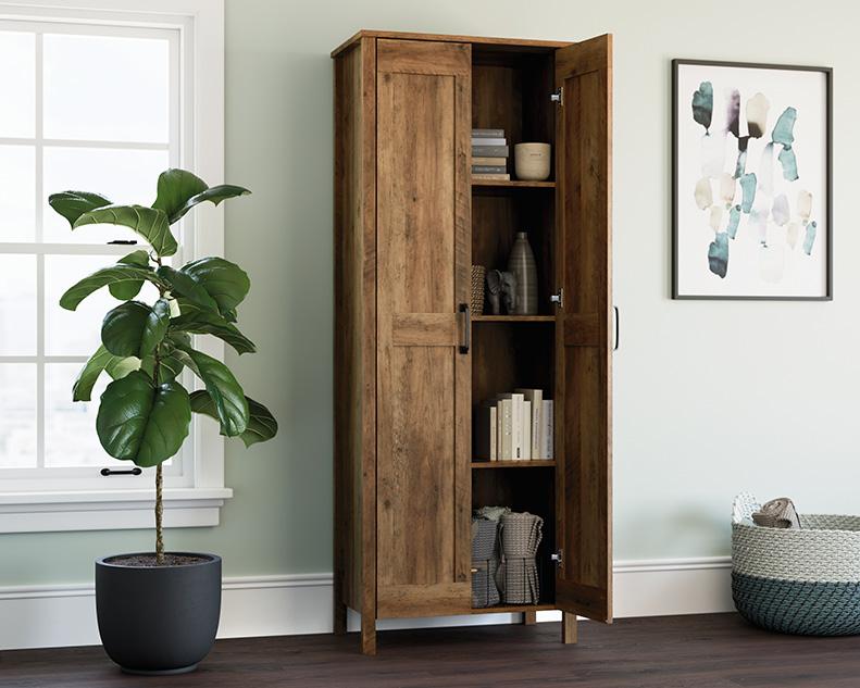 2-Door Storage Cabinet Rp in Rural Pine - Sauder 427958