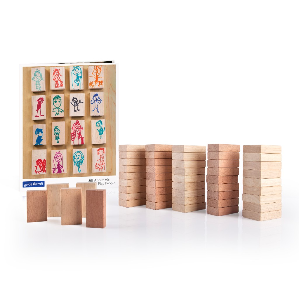 All About Me Block Play People Set - 50 pcs - Guidecraft G6223