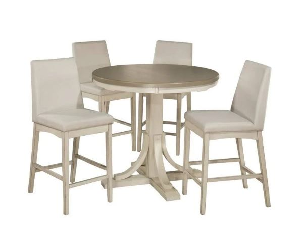 Hillsdale Five Round Counter Height Dining Set Parson Stools