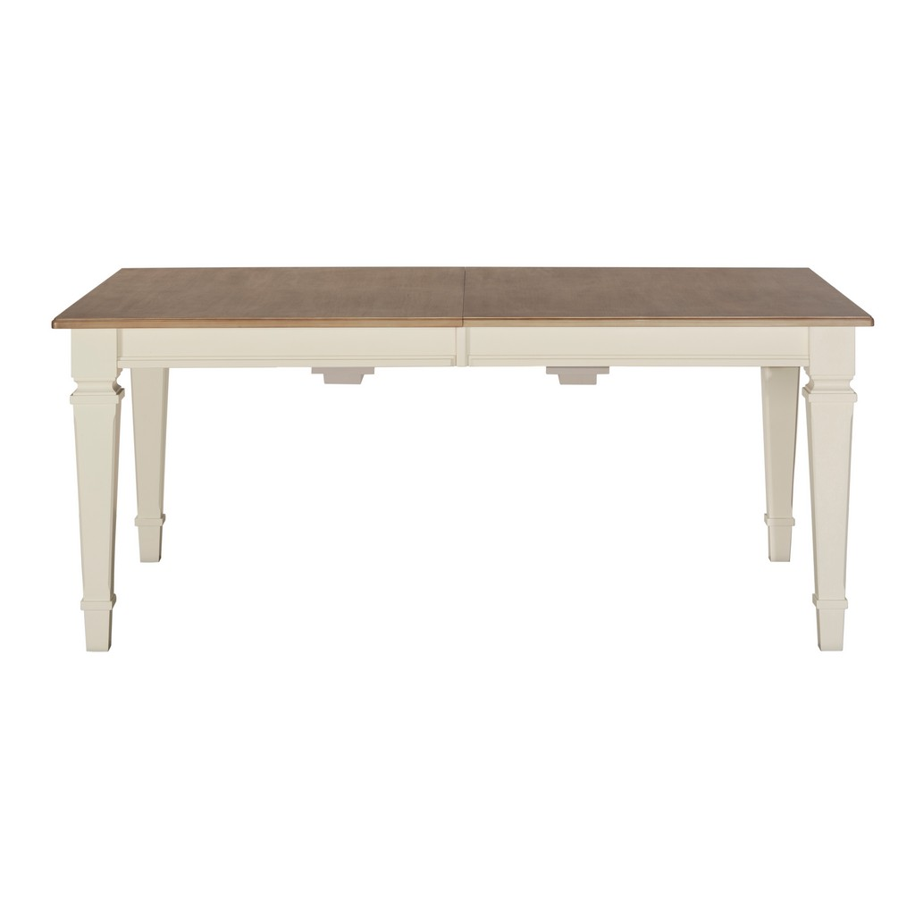 Wood Rectangle Extension Dining Table White