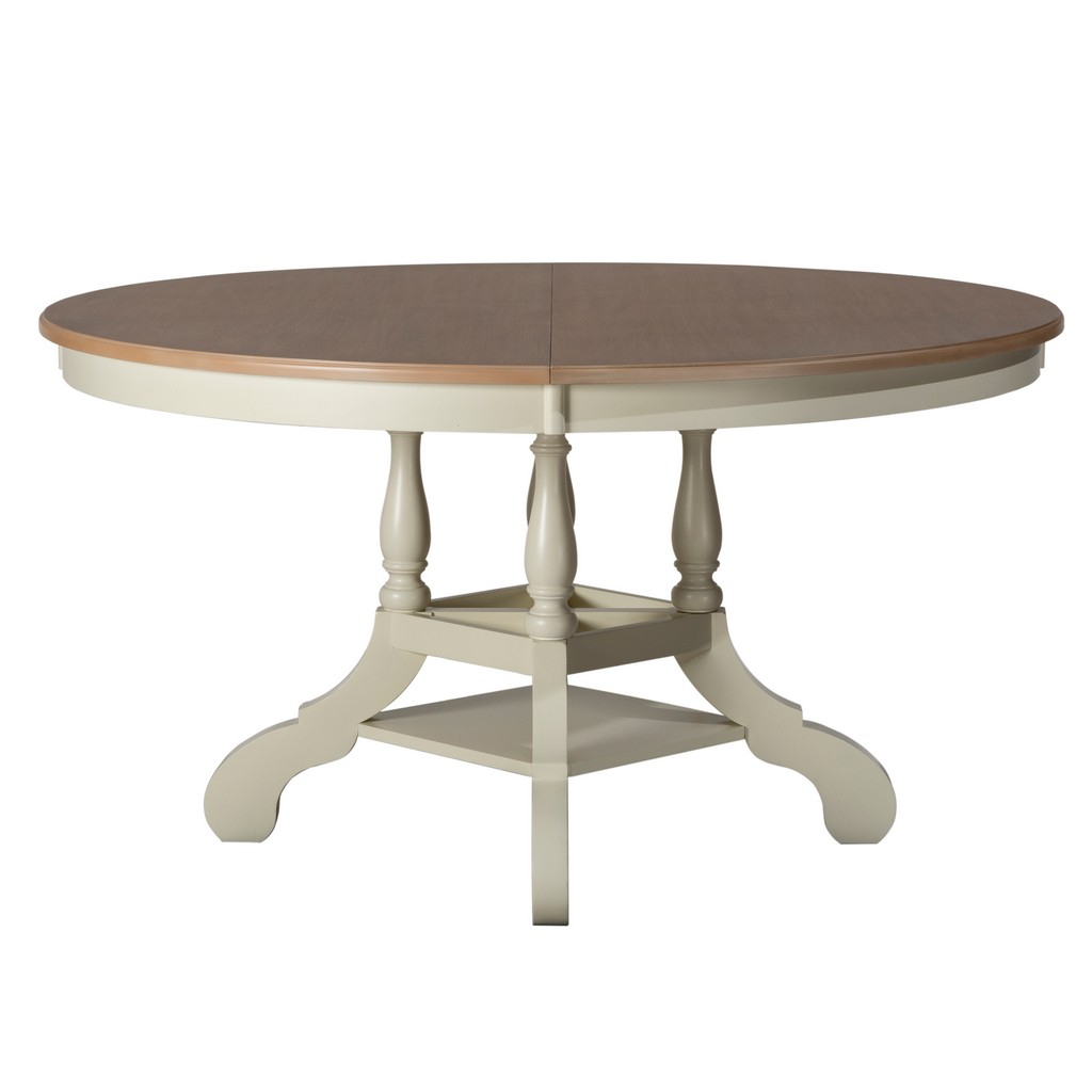 Wood Round Oval Dining Table White