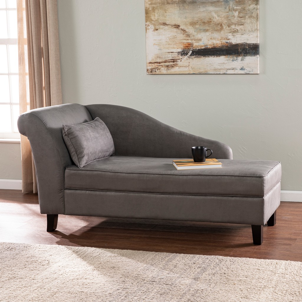 Aberdale Chaise Lounge with Storage - Southern Enterprises BC3905