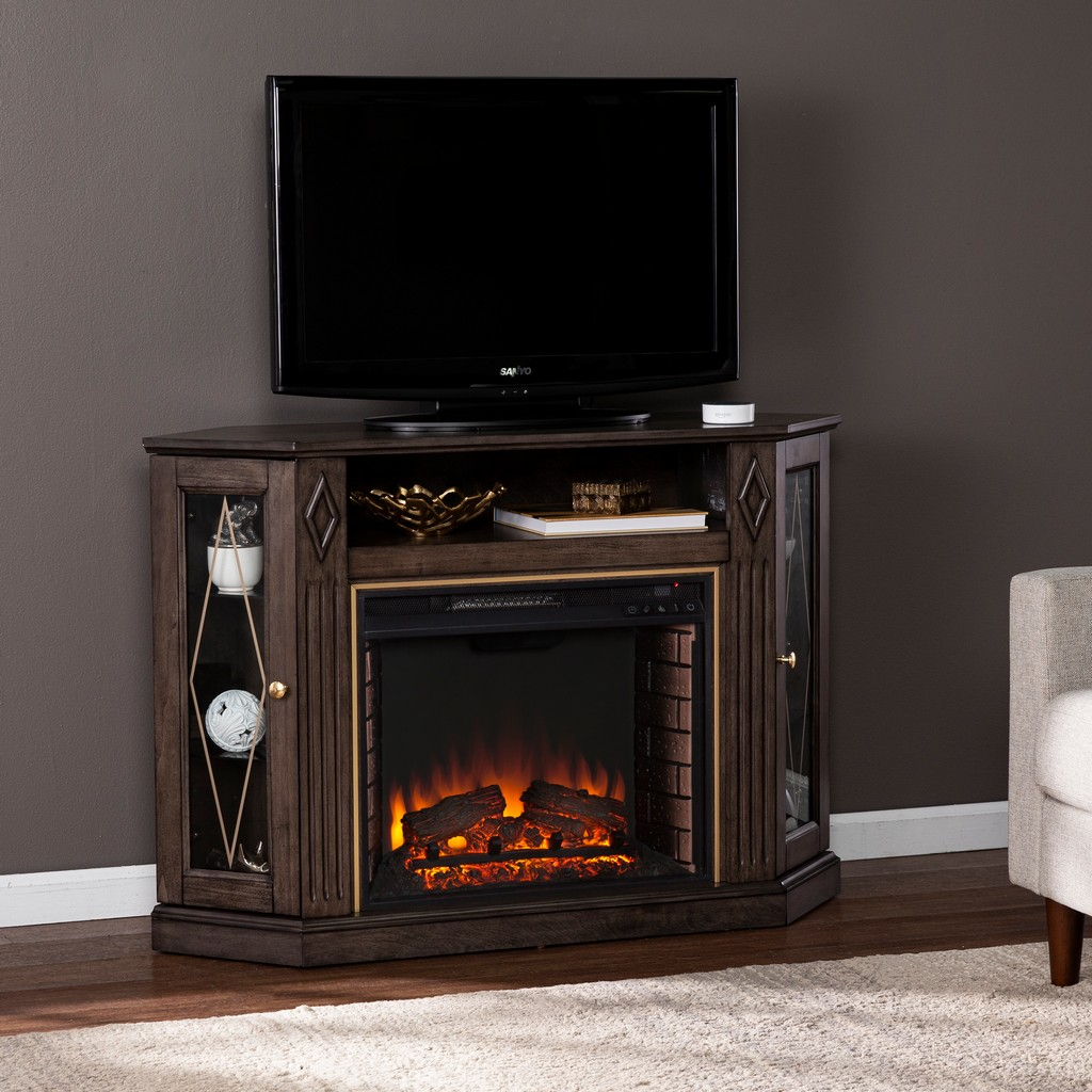 Austindale Electric Fireplace with Media Storage - Southern Enterprises FE1137556