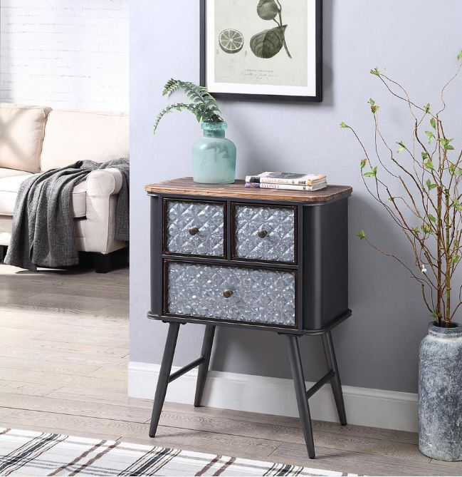 Forester Collection 3 Drawer Side Table - 4D Concepts 184003