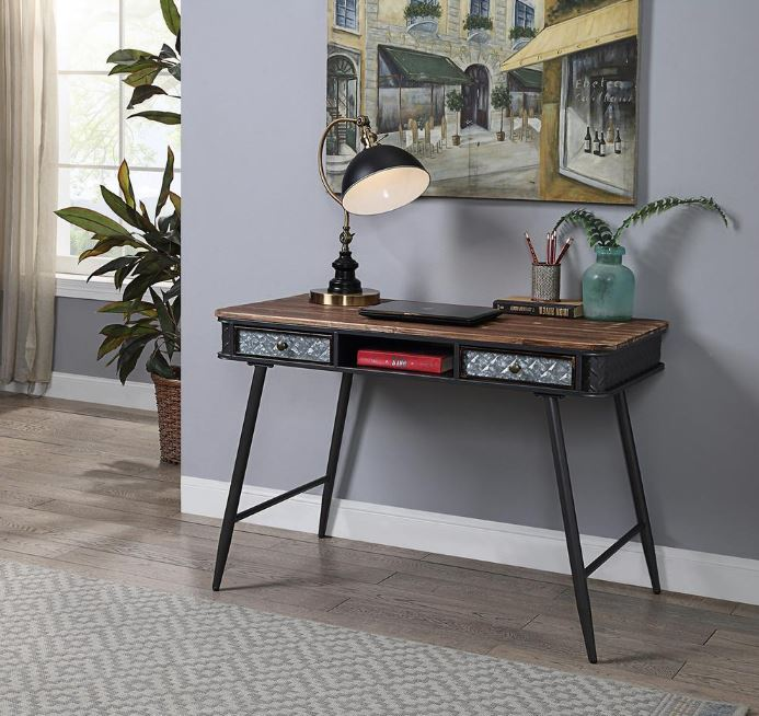 Forester Collection Desk w/ 2 Drawers - 4D Concepts 184023