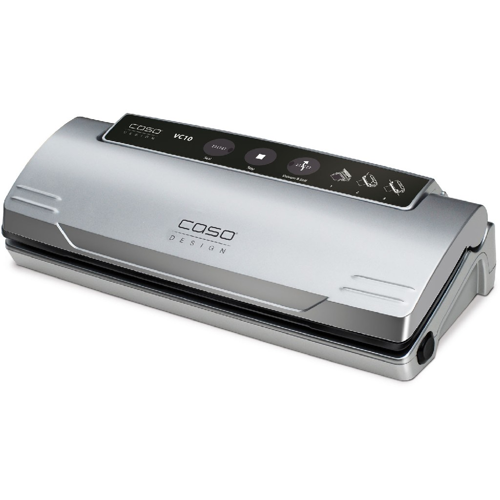 VC 10 Food Vacuum Sealer w/ Food Management App & Set of 2 Food Vacuum Rolls - Caso 11340-2-KIT