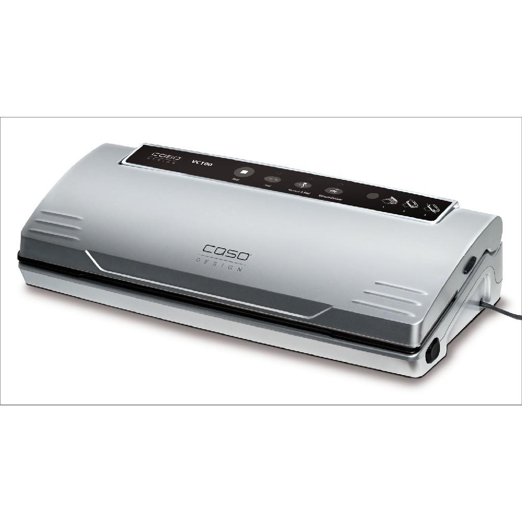 VC 100 Food Vacuum Sealer w/ Food Vacuum Hose, Food Management App, & Set of 2 Food Vacuum Rolls - Caso 11380-2-KIT