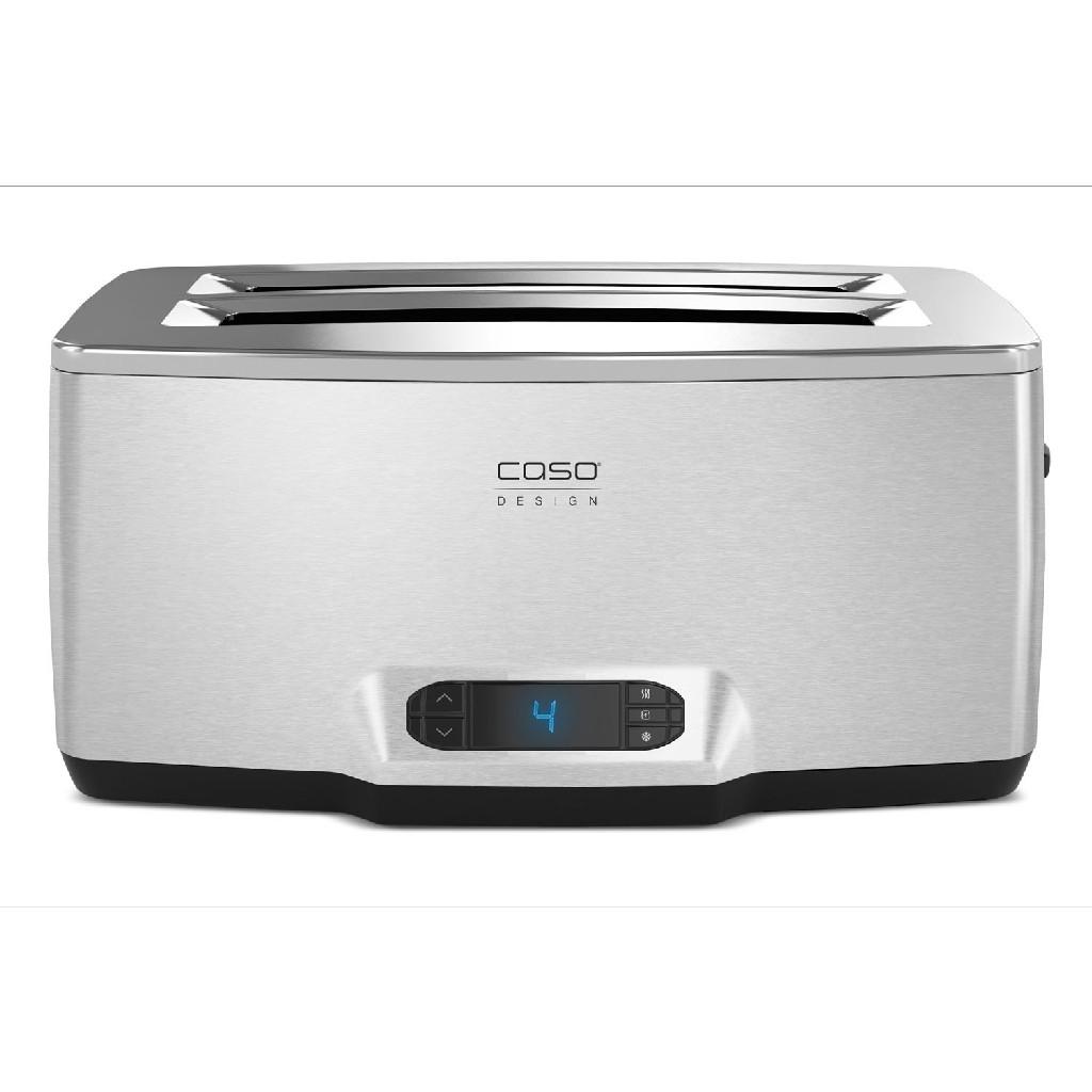Inox 4 Four-Slice Toaster w/ Wire Warming Basket Attachment - Caso 12779