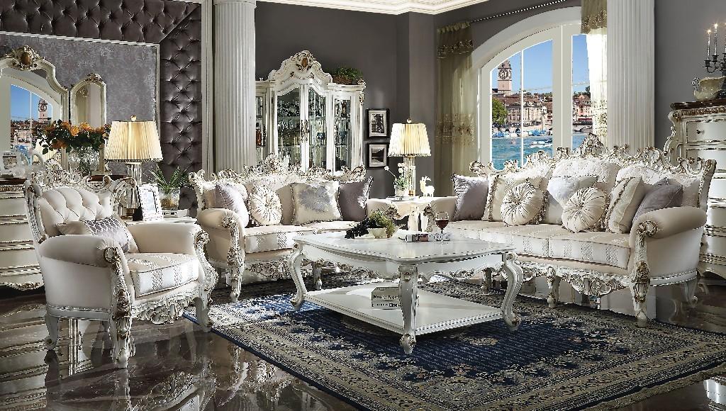 Acme Sofa Pillows Fabric Antique Pearl