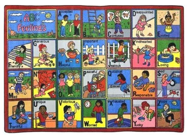 ABC Feelings Kids Rug in Multi Color (10