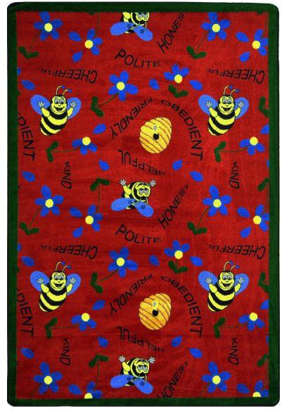 Carpet   Bee   Kid   Rug   Red