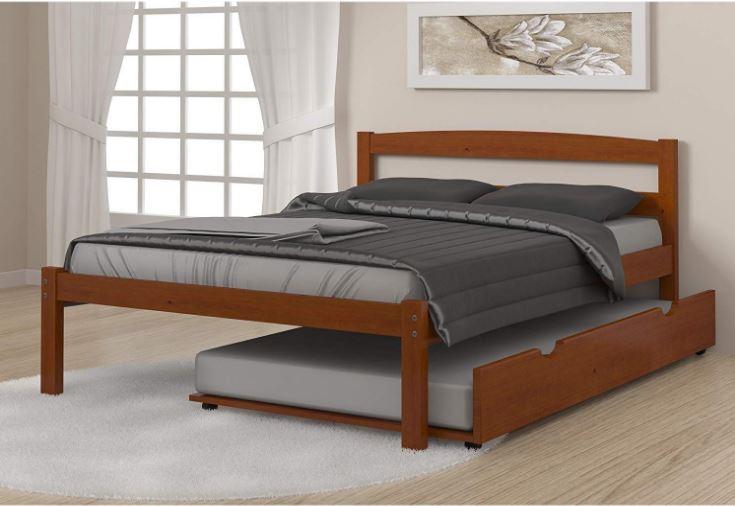 Full Econo Bed in Light Espresso with Twin Trundle - Donco 575-FE-503-E
