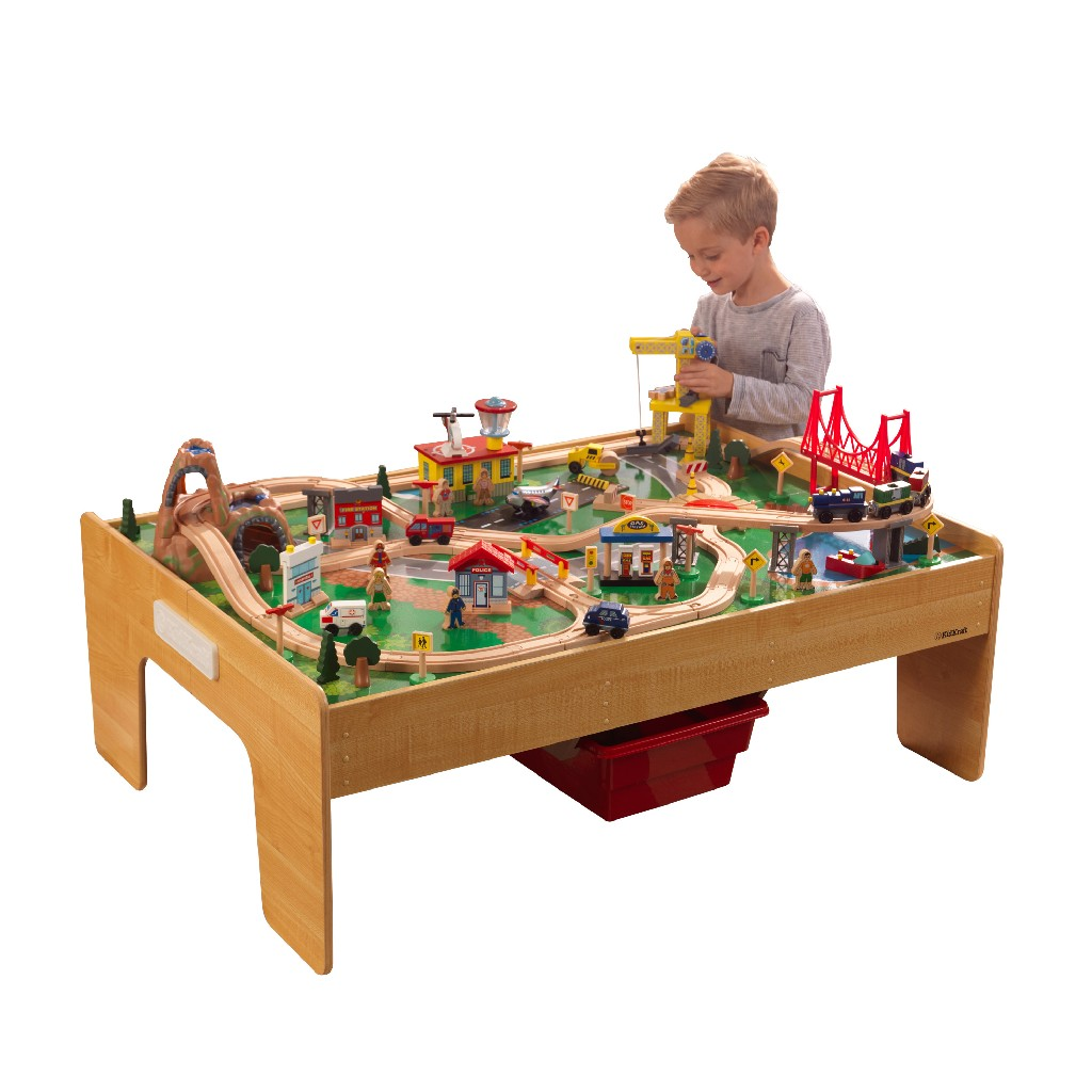 Adventure Town Railway Train Set & Table with EZ Kraft Assembly™ - Kidkraft 18025