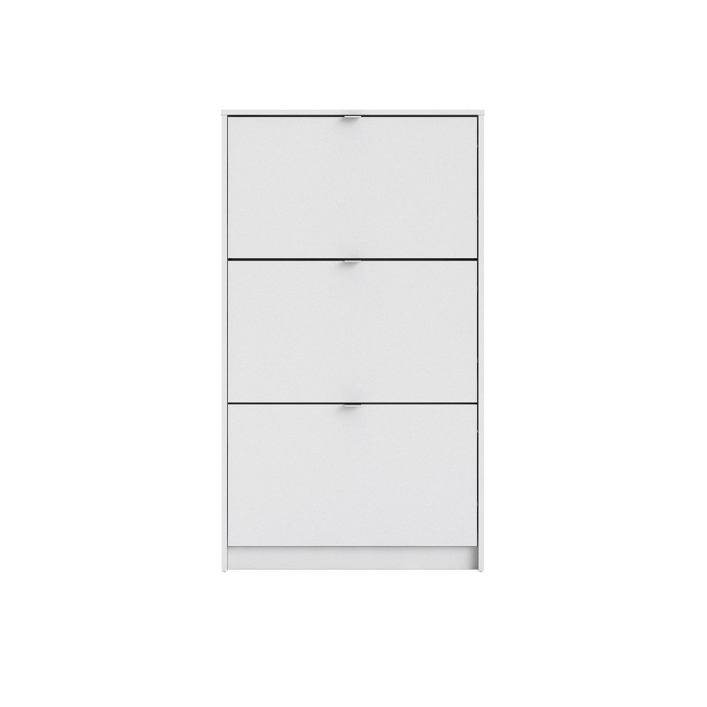 Bright 3 Drawer Shoe Cabinet in White - Tvilum 590024949