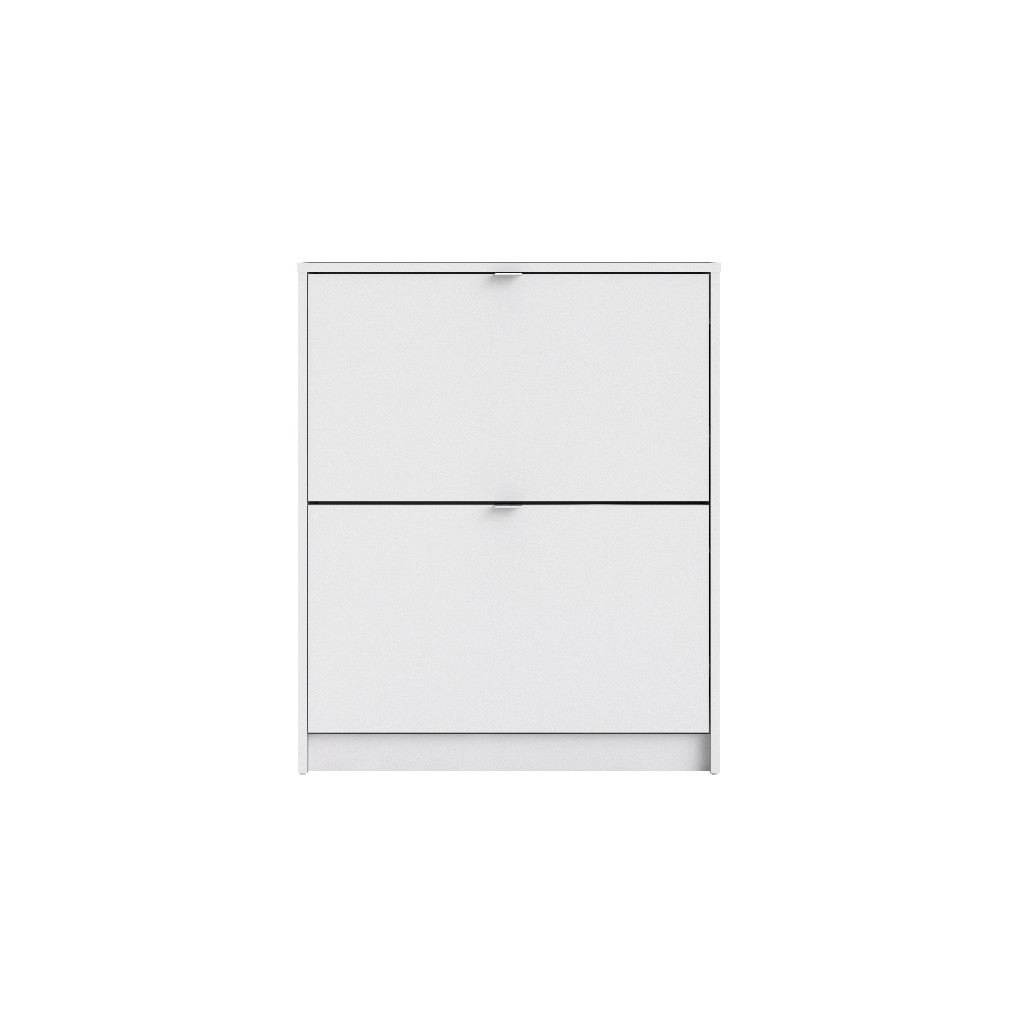 Bright 2 Drawer Shoe Cabinet in White - Tvilum 590054949
