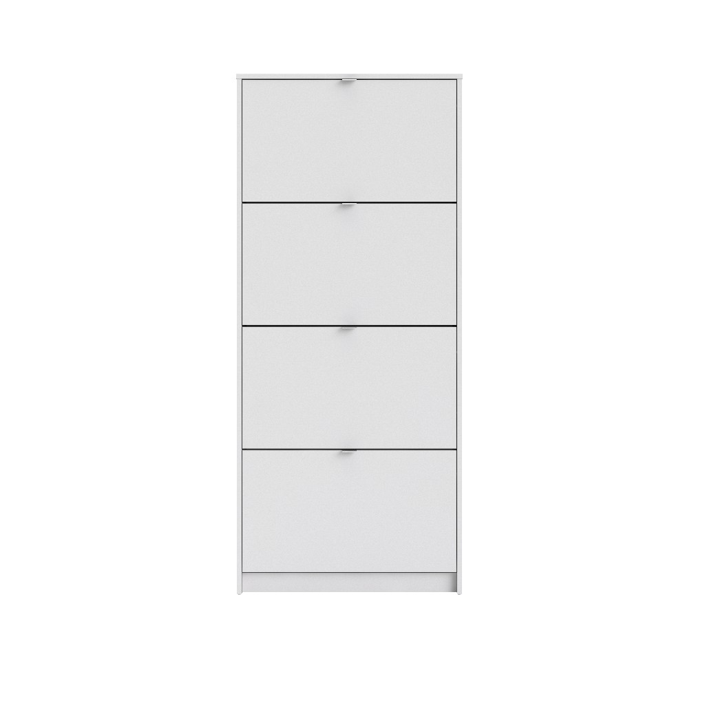 Bright 4 Drawer Shoe Cabinet in White - Tvilum 590074949
