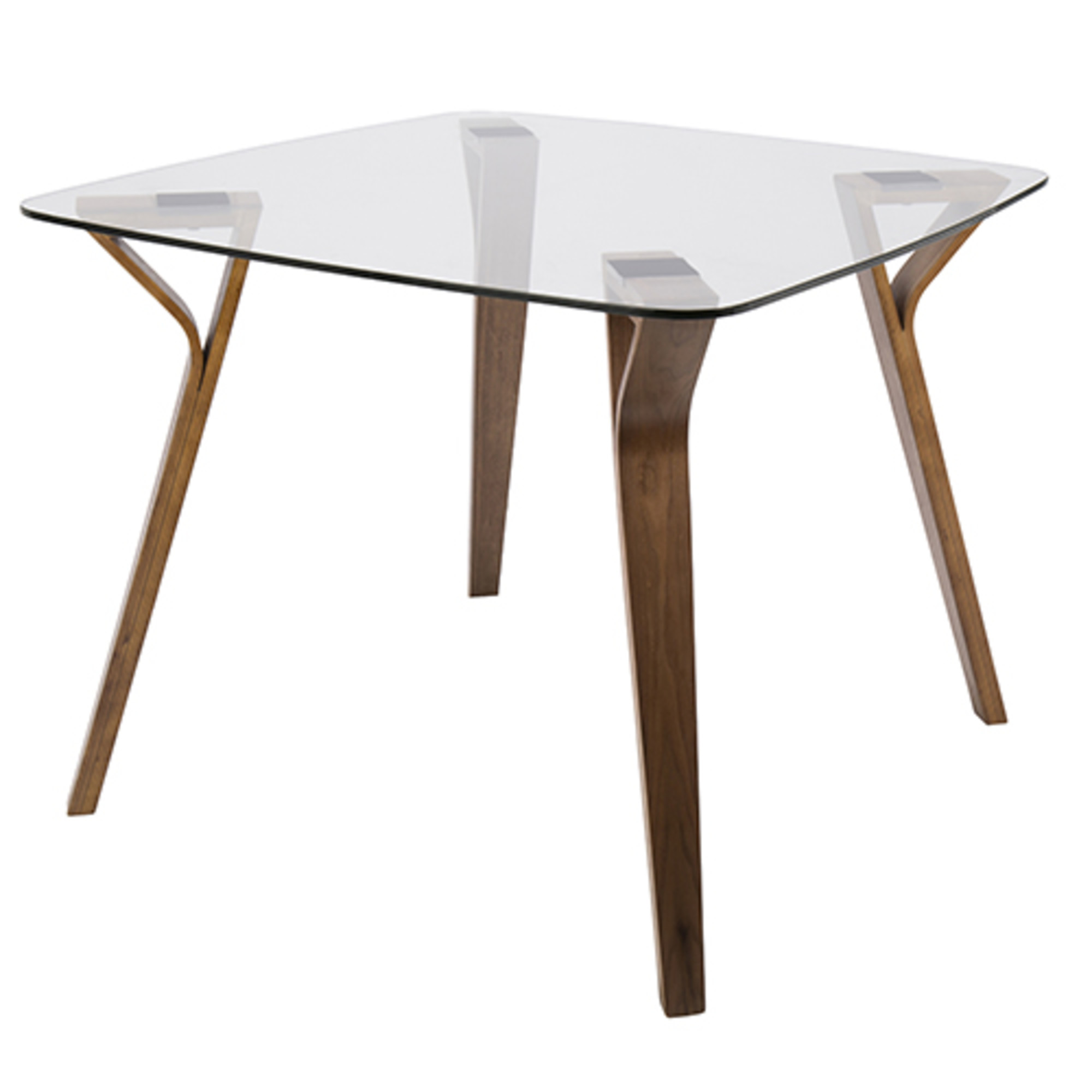 Excellent Folia Mid Century Modern Dinette Table In Walnut Glass Pdpeps Interior Chair Design Pdpepsorg
