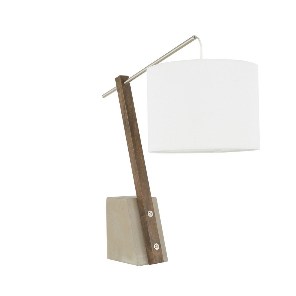 Concrete | Silver | Shade | Table | White | Lamp