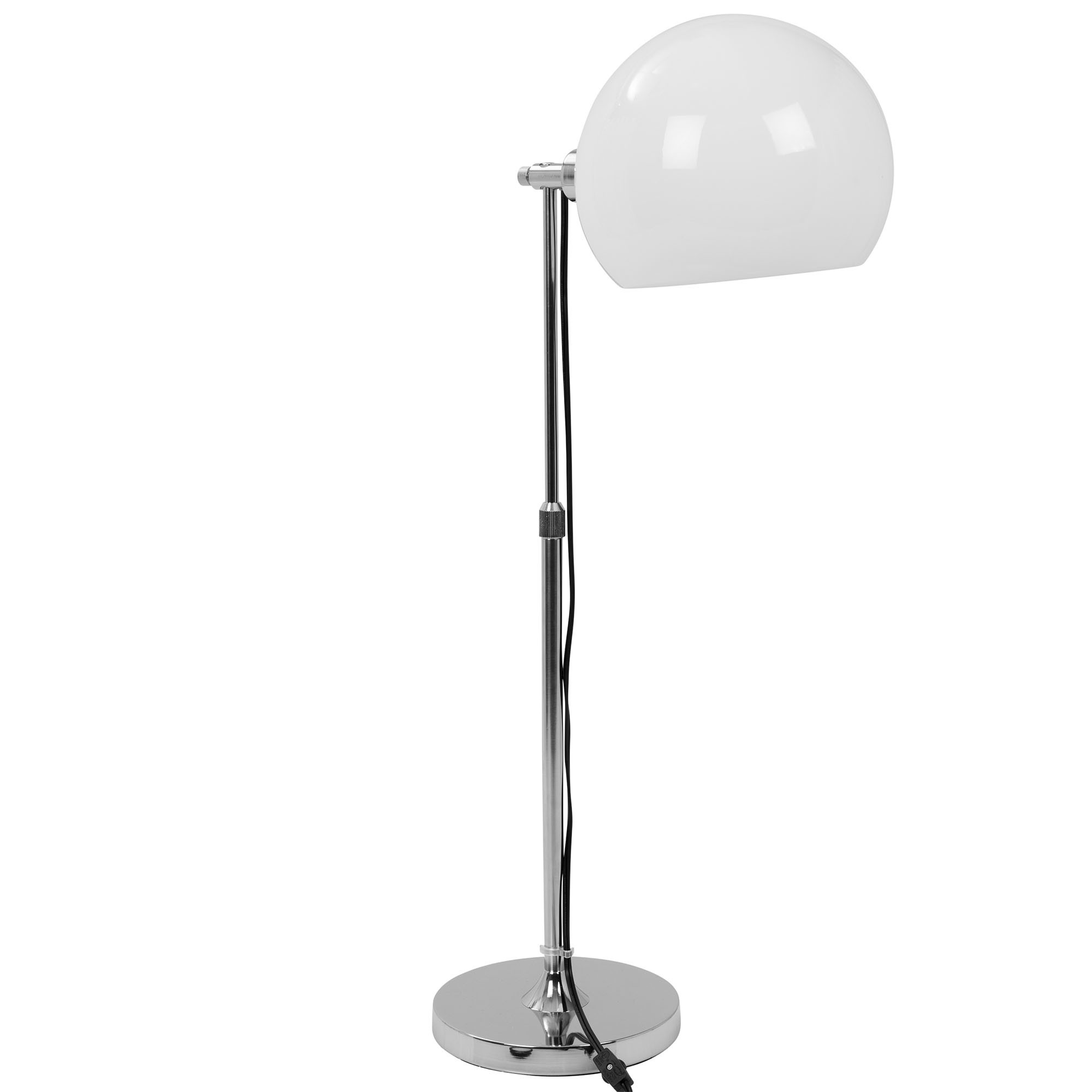 Contemporary | Adjustable | Chrome | Shade | Table | White | Lamp