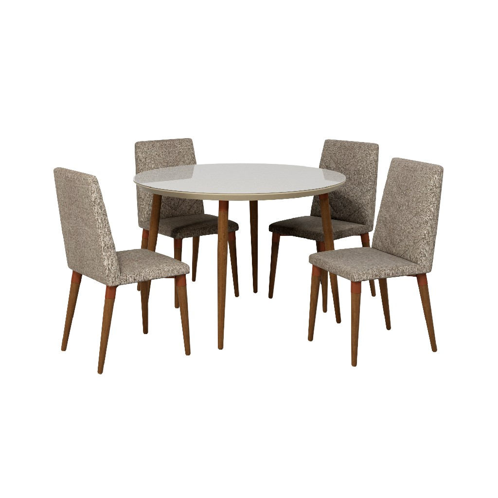 Manhattan Comfort Round Dining Table Dining Chairs