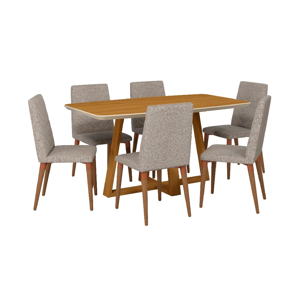 Manhattan Comfort Furniture Dining Table Rectangle Dining Chair Photo