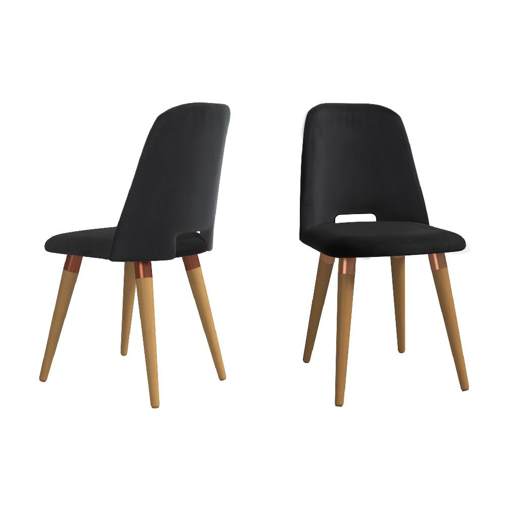 Manhattan | Accent | Velvet | Chair | Black | Set