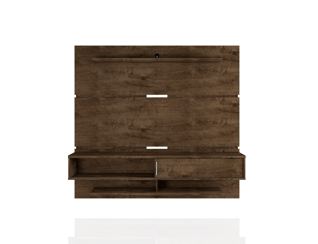 Astor 70.86 Modern Floating Entertainment Center 2.0 with Media and Décor Shelves in Rustic Brown - Manhattan Comfort 223BMC9