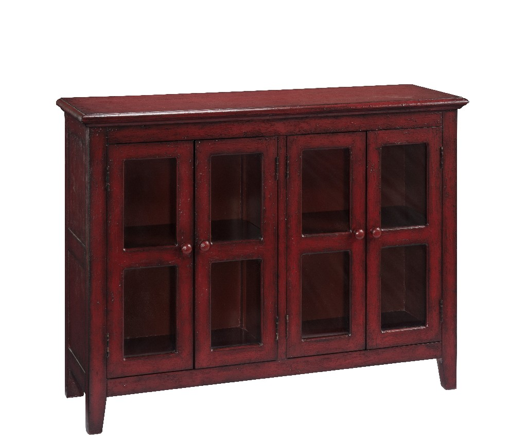 Coast To Coast Four Door Credenza Lincoln Court Texture Red