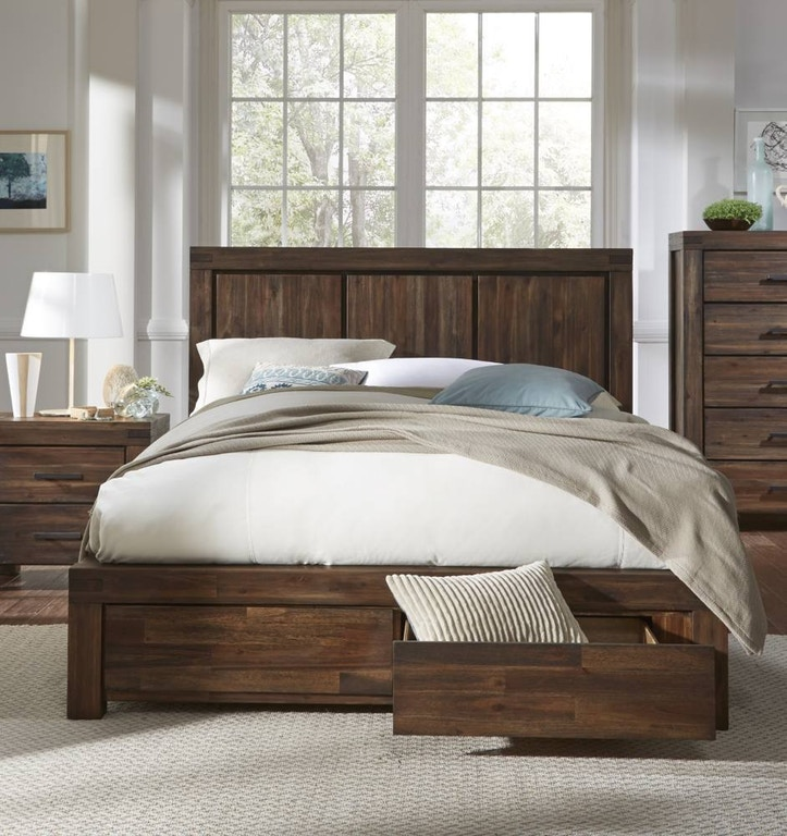 Modus California King Wood Footboard Storage Bed