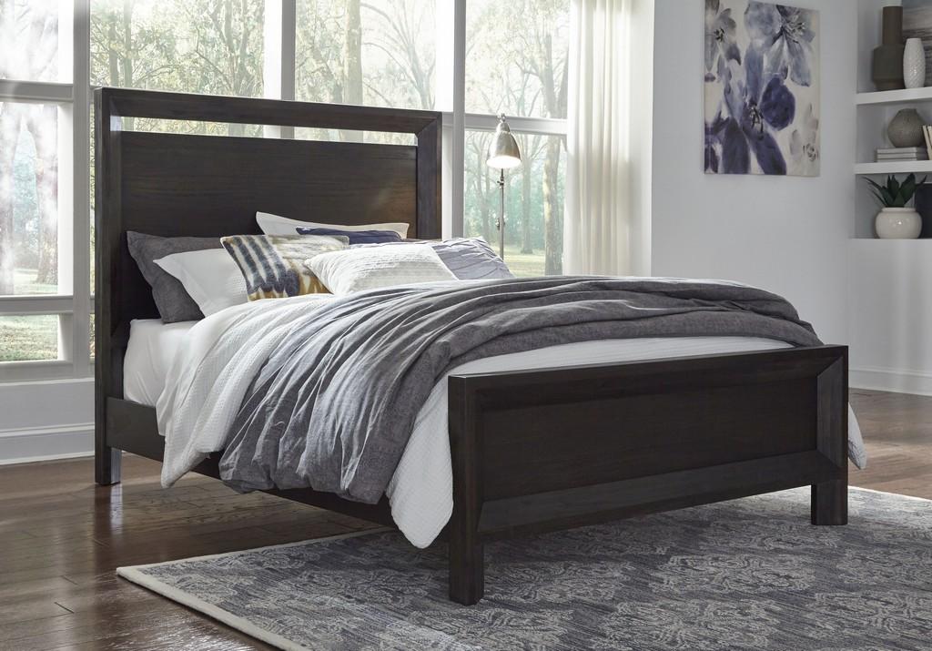 Modus Chloe Queen Wood Bed Basalt Grey Modus