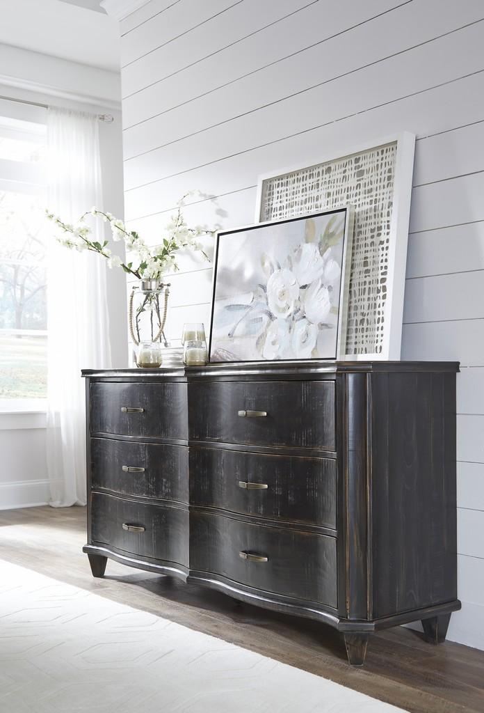 Philip Solid Wood Six Drawer Dresser in Dark Espresso - Modus 3MT482 Image
