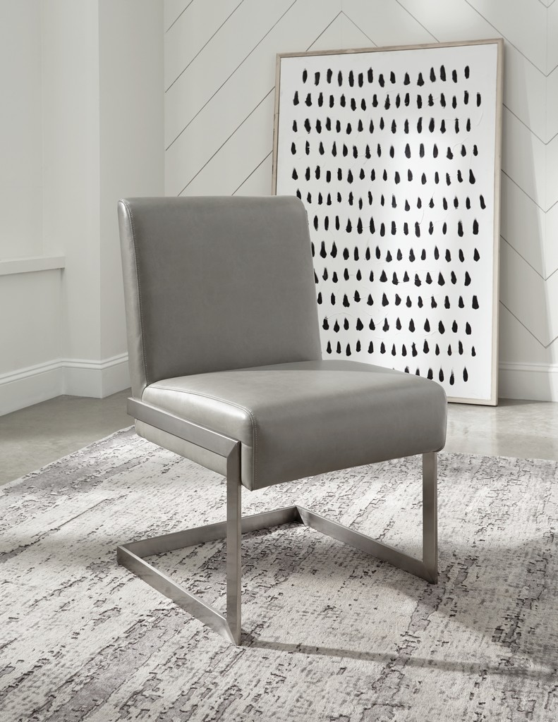 Coral Synthetic Leather Upholstered Dining Chair Modus