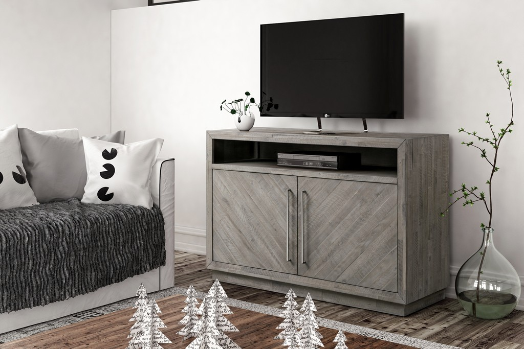 """Alexandra Solid Wood 54"""" Media Console in Rustic Latte - Modus 5RS32636"""
