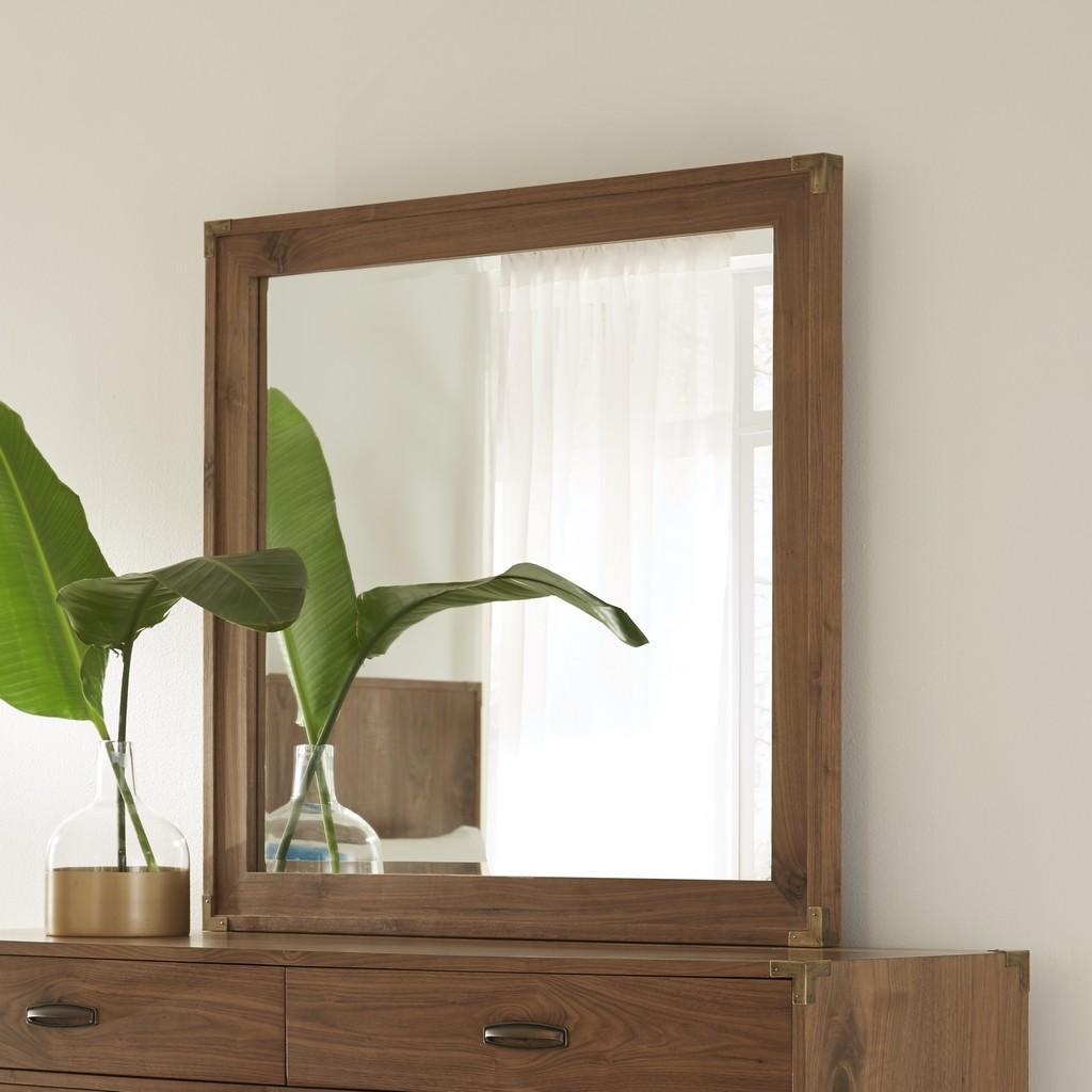 Adler Beveled Glass Mirror in Natural Walnut - Modus 8N1683